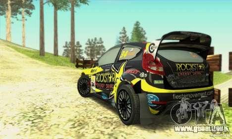 Ford Fiesta Rockstar Energy pour GTA San Andreas laissé vue