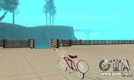 Low Rider Bike für GTA San Andreas zurück linke Ansicht