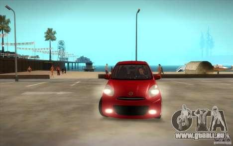 Nissan Micra 2011 pour GTA San Andreas vue de côté