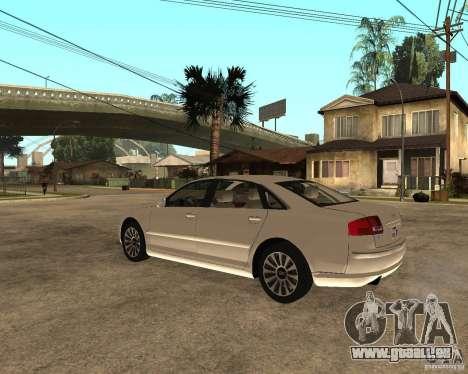 Audi A8 2003 pour GTA San Andreas laissé vue