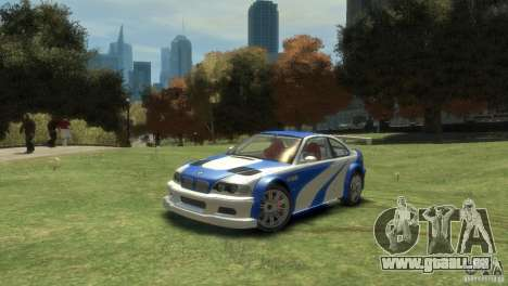 BMW M3 GTR NFS MOST WANTED pour GTA 4