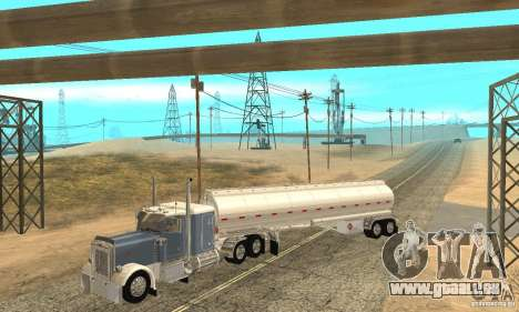 Peterbilt 379 Custom And Tanker Trailer für GTA San Andreas Innen