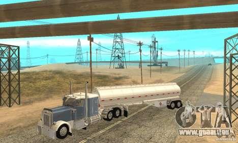 Peterbilt 379 Custom And Tanker Trailer für GTA San Andreas Innen