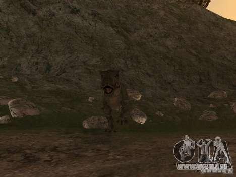 Dinosaurs Attack mod pour GTA San Andreas deuxième écran