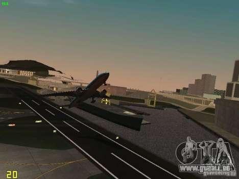 Boeing 777-200 KLM Royal Dutch Airlines pour GTA San Andreas vue arrière