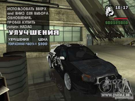 Subaru Impreza Wrx Sti 2002 pour GTA San Andreas vue de droite