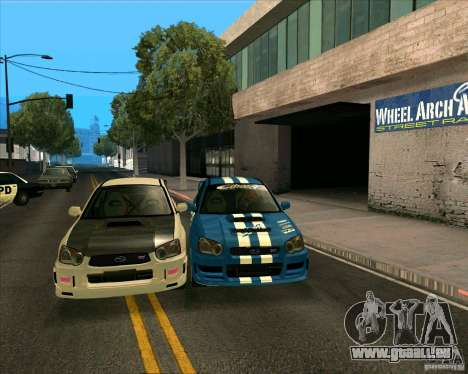 Subaru Impreza WRX STi Tunable für GTA San Andreas linke Ansicht