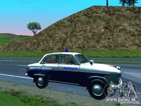 Moskvitch 403 avec Police pour GTA San Andreas vue de dessus