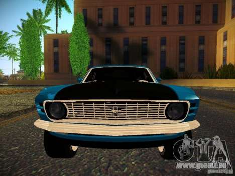 Ford Mustang Boss 429 1970 pour GTA San Andreas vue de droite