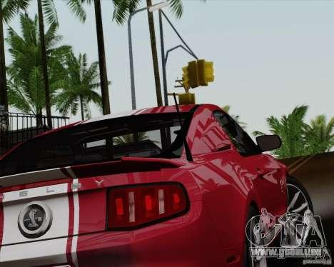 Ford Shelby GT500 Super Snake 2011 pour GTA San Andreas laissé vue