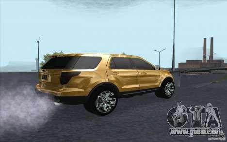 Ford Explorer Limited 2013 pour GTA San Andreas vue de droite