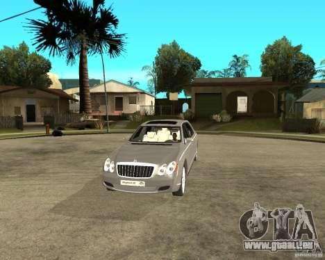 Maybach 62 für GTA San Andreas Rückansicht