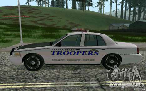 Ford Crown Victoria Police für GTA San Andreas linke Ansicht