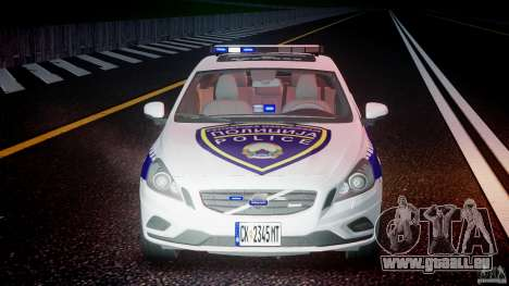 Volvo S60 Macedonian Police [ELS] pour GTA 4 est une vue de dessous