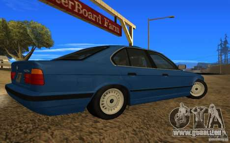 BMW 525 E34 V.3 pour GTA San Andreas laissé vue