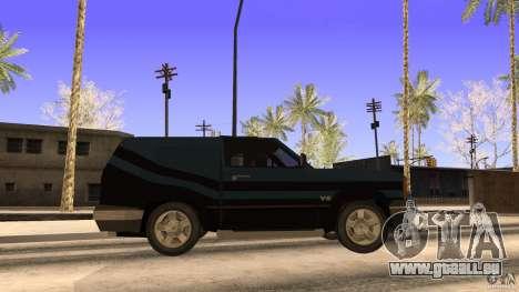Sandking EX V8 Turbo pour GTA San Andreas sur la vue arrière gauche