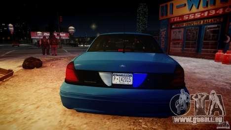 Ford Crown Victoria Detective v4.7 [ELS] pour GTA 4 est une vue de dessous
