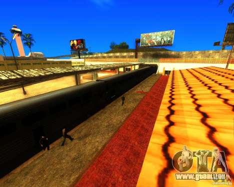 Einem belebten Bahnhof in Los Santos für GTA San Andreas zweiten Screenshot