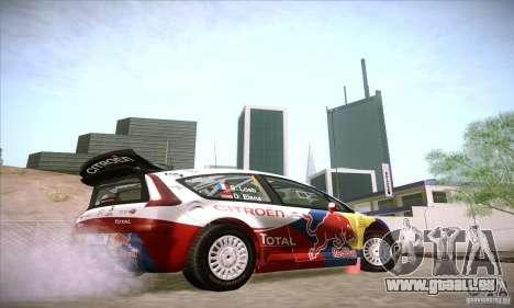 Citroen C4 WRC für GTA San Andreas Rückansicht