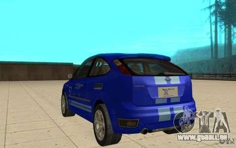 Ford Focus-Grip für GTA San Andreas zurück linke Ansicht