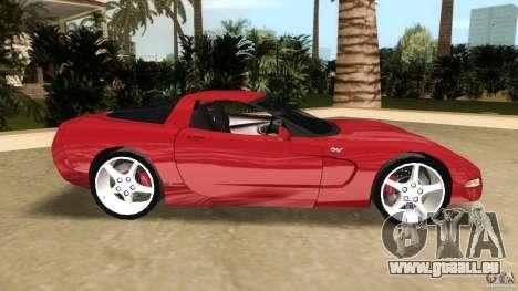 Chevrolet Corvette Z05 pour une vue GTA Vice City de la gauche