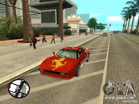 Ferrari 288 Gto pour GTA San Andreas sur la vue arrière gauche