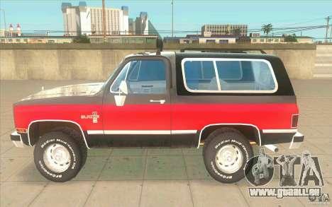 Chevrolet Blazer K5 Stock 1986 für GTA San Andreas linke Ansicht