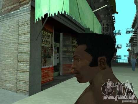 LE NOUVEAU VISAGE DE CJ pour GTA San Andreas sixième écran