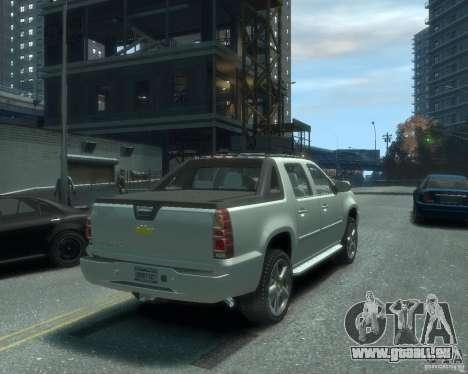Chevrolet Avalanche Version Pack 1.0 pour GTA 4 Vue arrière de la gauche