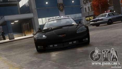Chevrolet Corvette LCPD Pursuit Unit pour GTA 4 Vue arrière de la gauche