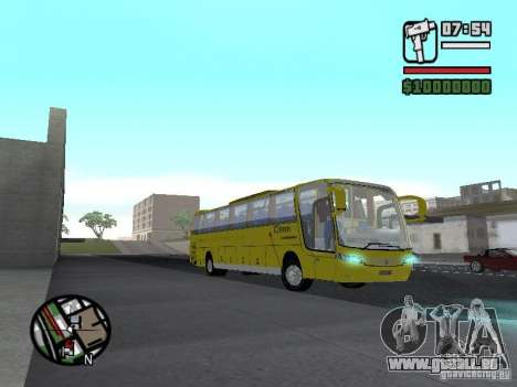 Busscar Vissta Bus für GTA San Andreas Rückansicht