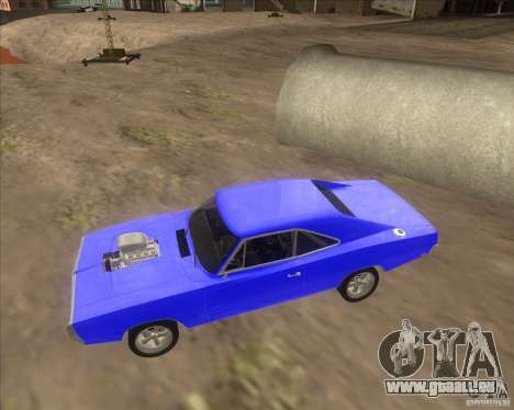 Dodge Charger RT 1970 The Fast and The Furious für GTA San Andreas Rückansicht