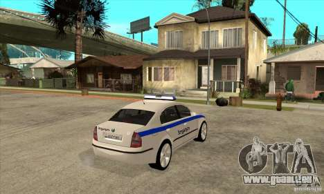 Skoda SuperB GEO Police pour GTA San Andreas vue de droite