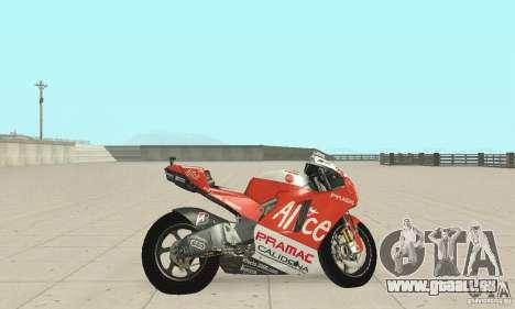Ducati Alice GP pour GTA San Andreas sur la vue arrière gauche