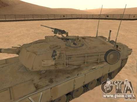 Abrams M1A2 pour GTA San Andreas vue de droite