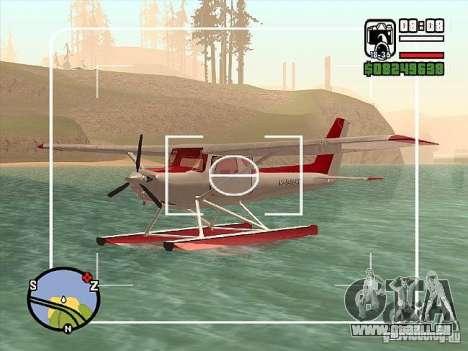 Cessna 152-Wasser-option für GTA San Andreas rechten Ansicht