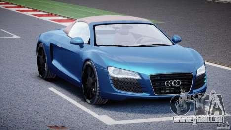 Audi R8 Spyder v2 2010 pour GTA 4