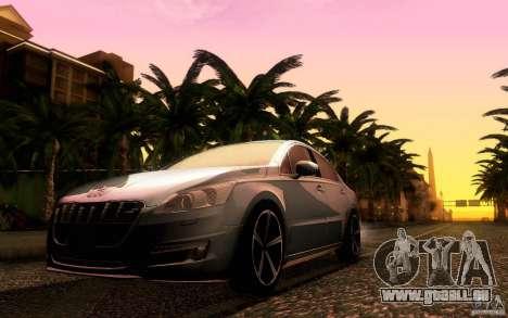 Peugeot 508 2011 pour GTA San Andreas vue de droite