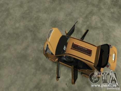 Lexus RX400 New York Taxi pour GTA 4 est une vue de dessous