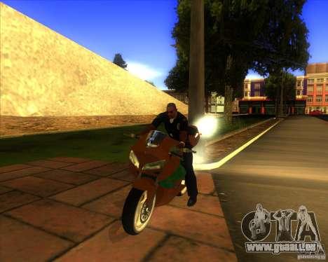 Honda CBR 600RR evo 2005 pour GTA San Andreas vue arrière