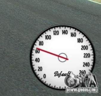 Compteur de vitesse IV (1 de la peau) pour GTA 4