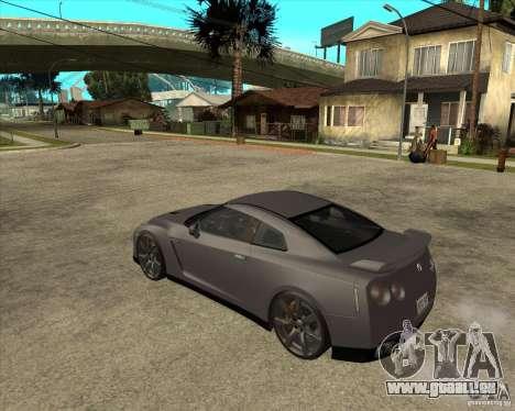 2008 Nissan GTR R35 pour GTA San Andreas laissé vue