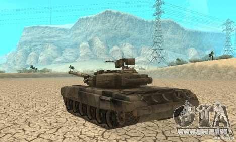 Char t-90 « Vladimir » pour GTA San Andreas vue de droite