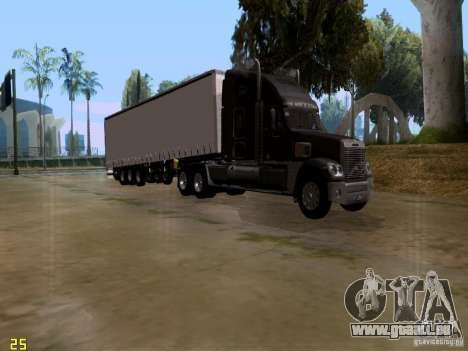 Freightliner Coronado pour GTA San Andreas sur la vue arrière gauche