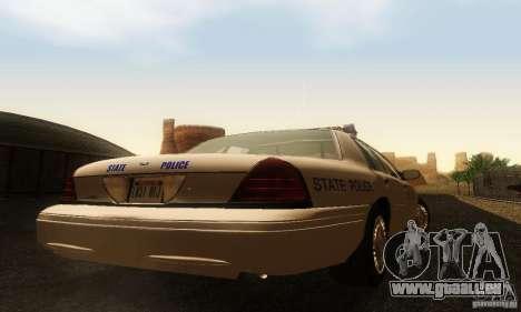 Ford Crown Victoria Rhode Island Police pour GTA San Andreas laissé vue