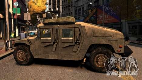 HMMWV M1114 pour GTA 4 est une gauche