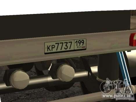 Douze roues semi-semi-remorque-benne TONAR 95231 pour GTA San Andreas vue de droite