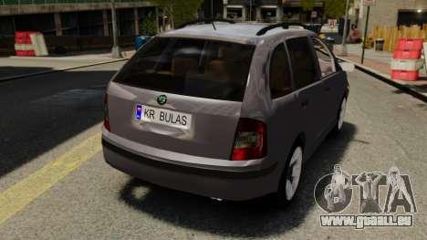 Skoda Fabia Combi für GTA 4 Rückansicht