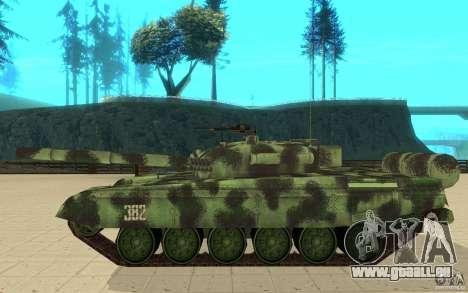 Char T-72 pour GTA San Andreas laissé vue