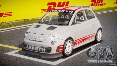 Fiat 500 Abarth für GTA 4 Rückansicht